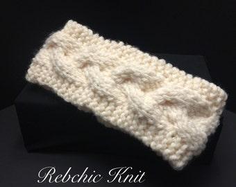 Cable knit headband / headband cable