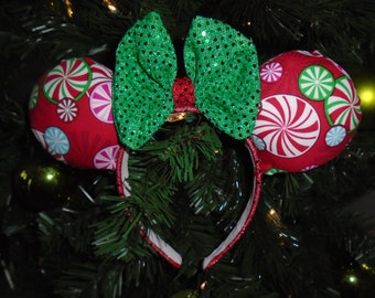 Peppermint Holiday Ears