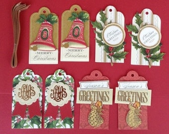 Christmas gift tags- 8 total