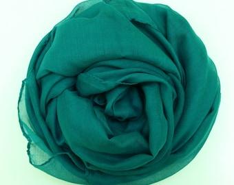 Dark Cyan Green scarf/hijab