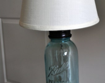 mason jar lamp, large