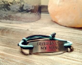 Spirit of Atlanta Hand Stamped Adjustable Bracelet