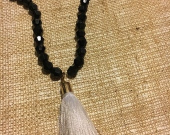 Black wrap with tassel