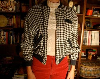 Vintage Checkered  80's Blazer