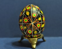48 Triangles: Wheat and Sun, Ukrainian Egg, Pysanka, Pysanky, Egg Art, Easter, Decorated Egg, Wax Resist