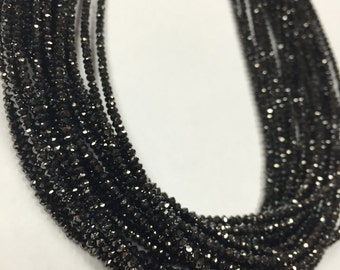 Black Diamond Faceted, Diamond Beads AAA Quality, Good Shining ,