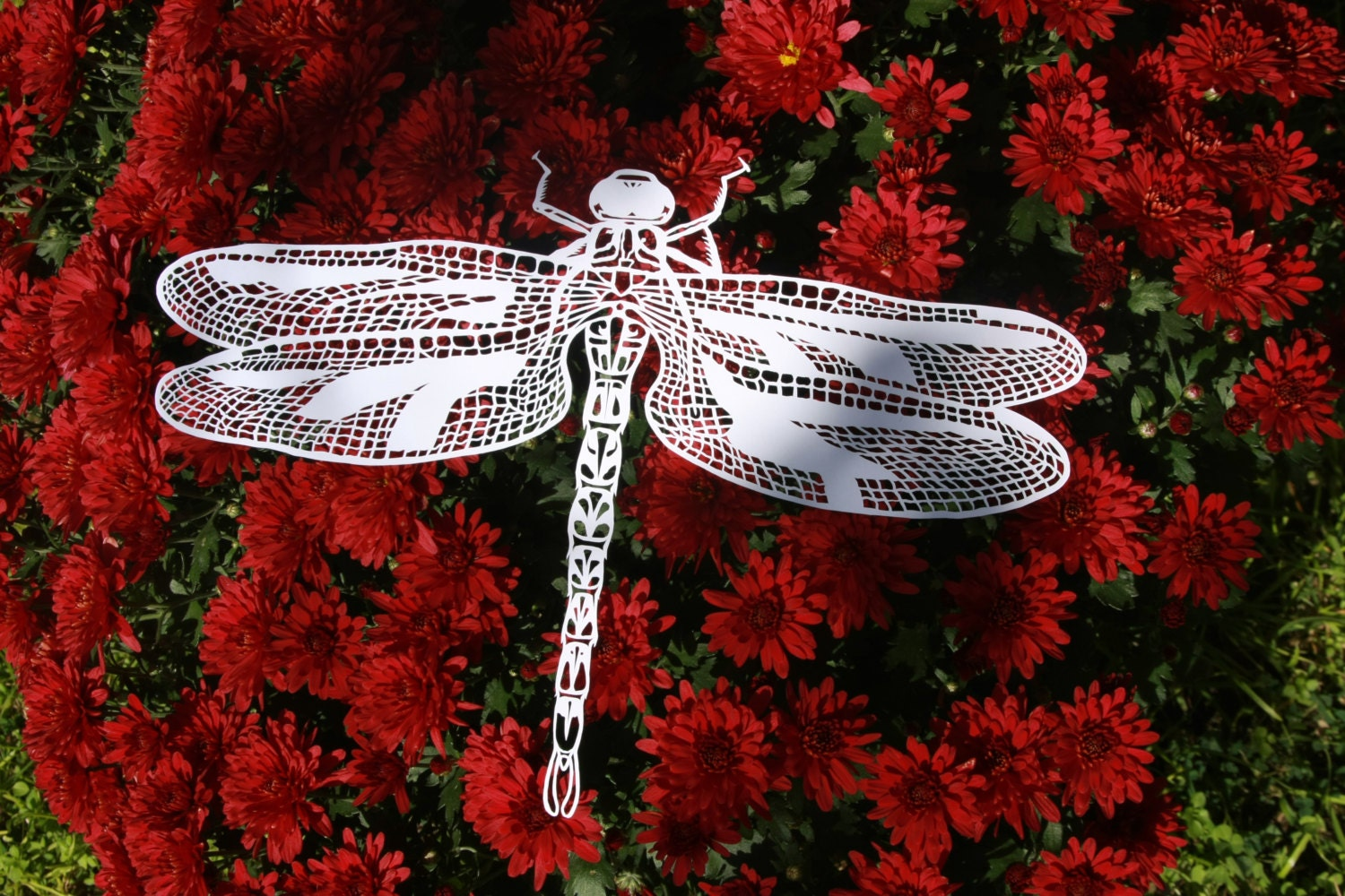 Dragonflies Wall Decor Dragonfly Papercut Etsy
