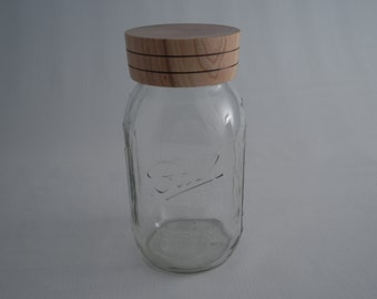 Wooden Mason Jar Lid Wood Canning Jar Lid Cherry Hand Turned Decorative