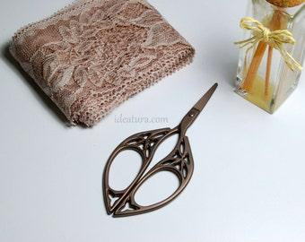 Vintage sewing scissors titanium old collection