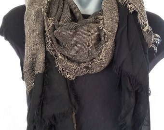 scarves/Black and brown Scarf / For men /For women/Stylish seasonal scarf / Luxury Men's accessories