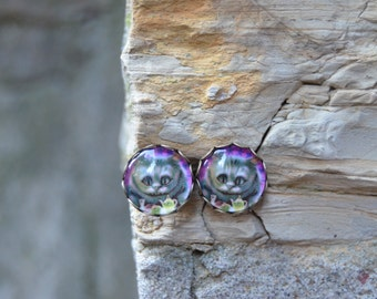 Bear earrings / Alice in Wonderland jewelry
