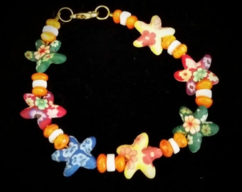 Vibrantly Colored Starfish Bracelet