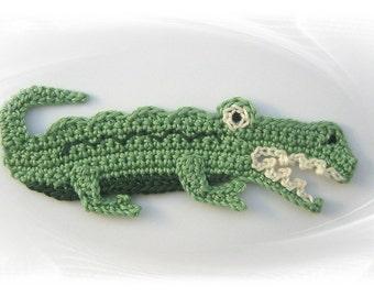 crocodile, crochet applique, crocodile, application, crochet, crochet, sew-on patches, crocodile shirt