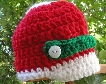 Crochet Christmas newsboy hat, newborn newsboy hat, Christmas baby hat, newborn Christmas hat, baby boy hat, baby girl hat, crochet baby hat