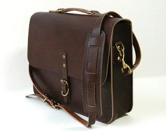 Leather Messenger, Briefcase, Satchel - The Vick
