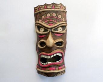 Tiki Mask, Mãori culture, Hawaii, Tiki, mask, paper mache