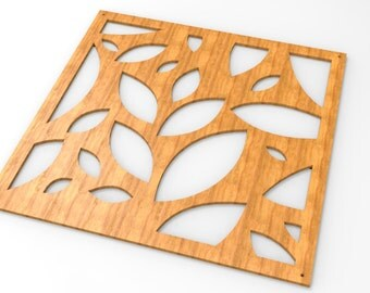 Leaf style wooden handmade room division, wall decoration panel