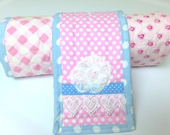 Baby Changing Pad, Travel Changing pad, baby girl Changing Mat, diaper changing pad, quilt, cottage chic baby Quilt, Toddler Changing  mat