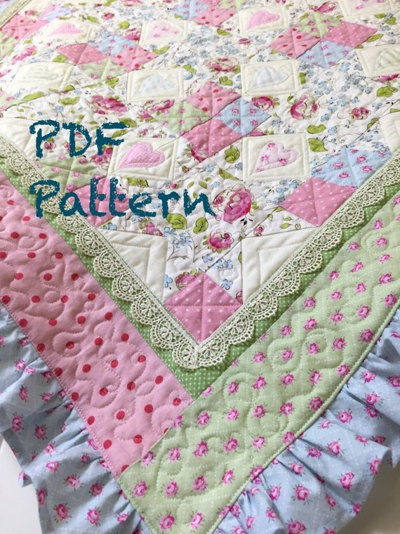 Ruffle Baby Quilt Pattern Baby Girl Quilt Patterns Quilt