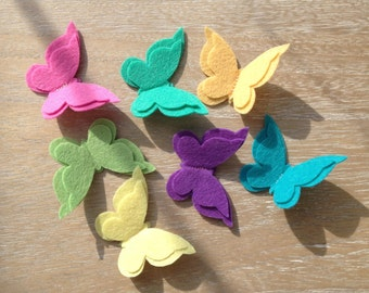 Hair pin with felt butterfly
