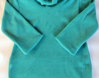 Fleece dress for 1T-10Y