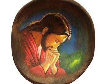 Praying Hands Jesus Etsy