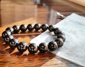8mm Genuine Onyx Bracelet