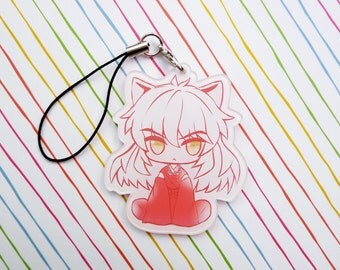 Inuyasha Acrylic Charm with Phone Strap / Key Ring