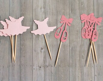 Cupcake Toppers, Ballerina Party Decorations, Ballerina Party, Ballerina Cupcake Toppers, Ballet Shoes, Ballerina Party Decor, Party Picks