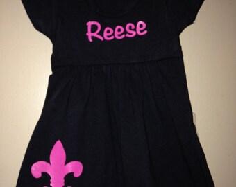 Personalized Fleur de lis dress