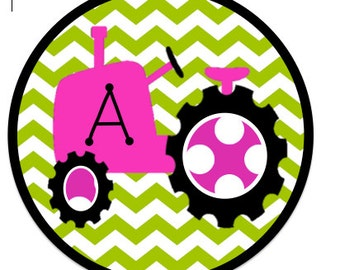 Girl Tractor Iron On