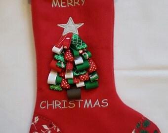 Christmas Stockings, Personalized Christmas Stockings, Handmade Christmas Stockings, Red Christmas Stockings, Large Christmas Stockings