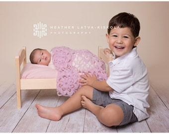 Newborn Blanket Prop, Mohair Blanket, Newborn Crochet Blanket, Mohair Baby Blanket, Infant Blanket, Baby Blanket, Photography Prop, Vintage