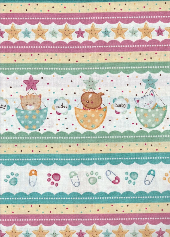 Cute baby fabric baby bundles per yd diaper pins for Cute baby fabric