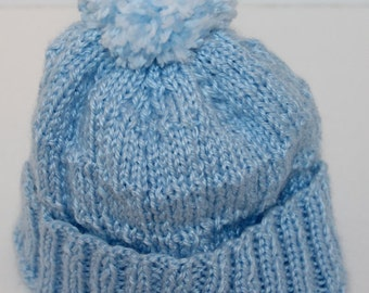 Baby Knitted Blue Cap
