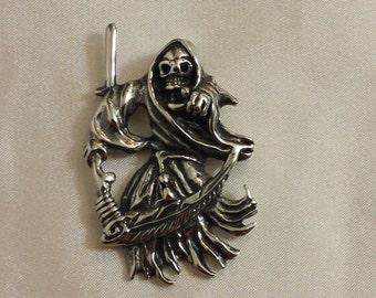 Grim Reaper Stainless steel pendant, reaper pendant, reaper charm