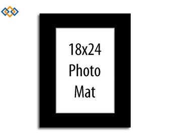 custom 18x24 mat white core rectangle photo mats