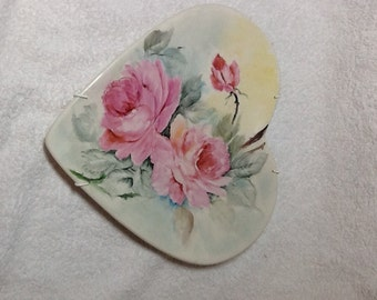 Hand painted heart plate