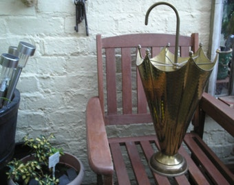 Vintage Brass modelled Umbrella stand