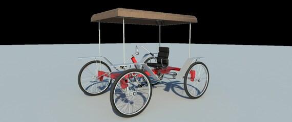 Build Your Own 4 Wheel Pedal Bike Car Diy Plans Pedicab