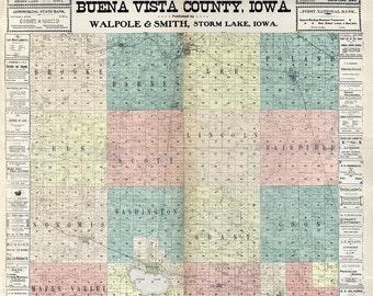 1901 Map of Buena Vista County Iowa