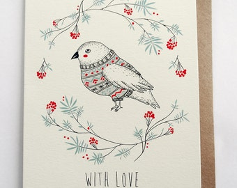 With Love Illustrated Card