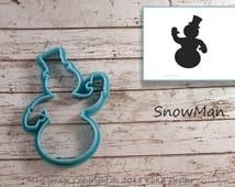 Snowman cookie cutter / Cookie cutter Christmas / Cookie cutter snowman / Cookie cutter holiday / Snowman fondant cutter