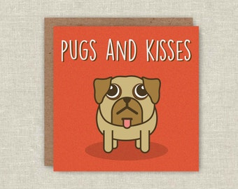 Pug Card, Cute Pug, Birthday Card, Pug Birthday Card, Pun Card, Pug Pun, Funny Card, Funny Birthday Card, For Her, For Him, Love Card