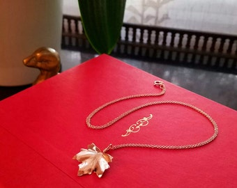 Rose Gold Maple Leaf Necklace