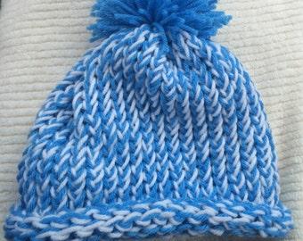 Hat with pom