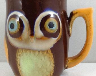 "Vtg Gibson OWL Ceramic Coffee Mug/ Cup 4"""