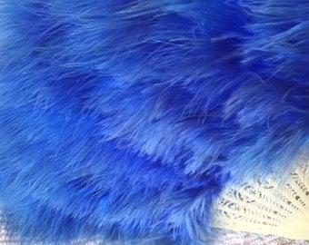 Blue Feathered Fan- Burlesque Dancing Fan Mardi Gras Carnival Moulin Rouge