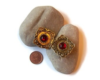 "Vintage earrings, ""Vendome"" earrings, signed earrings, clip-on earrings, retro earrings, designer earrings,vintage jewelry, 1950's jewellery"