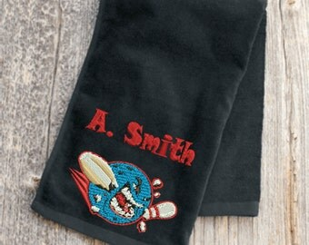Custom Made Embroidered Bowling Towel Shipping is Free!!!!